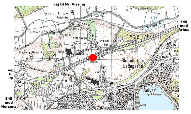 Lokalitet Skanderborg Motorvejsudgravning E45 1976